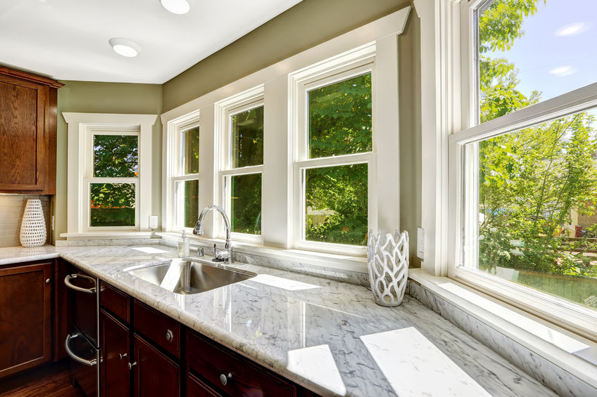 white kitchen replacement windows